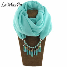 2018 The New pattern Solid Ring Scarf For Women ALL Seasons Elegant Pendant Female Jewelry Scarves Mujer Colgante Bufanda