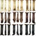 9 цвета волос хвост клип в на шиньоны синтетический Extentions прямо Wiglets поддельные волосы хвост хвост косплей костюм