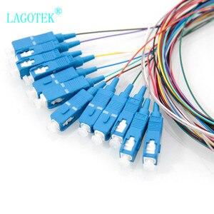 Image 2 - 10 teile/los 12 Farben SC/UPC SM (9/125) G652D, optische Faser Zopf Bündel Schwanz Faser Zopf Kostenloser Versand