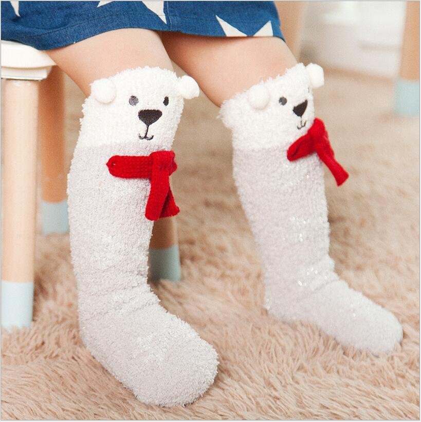 Xmas baby socks Newborn Toddler knee high socks Baby Boy