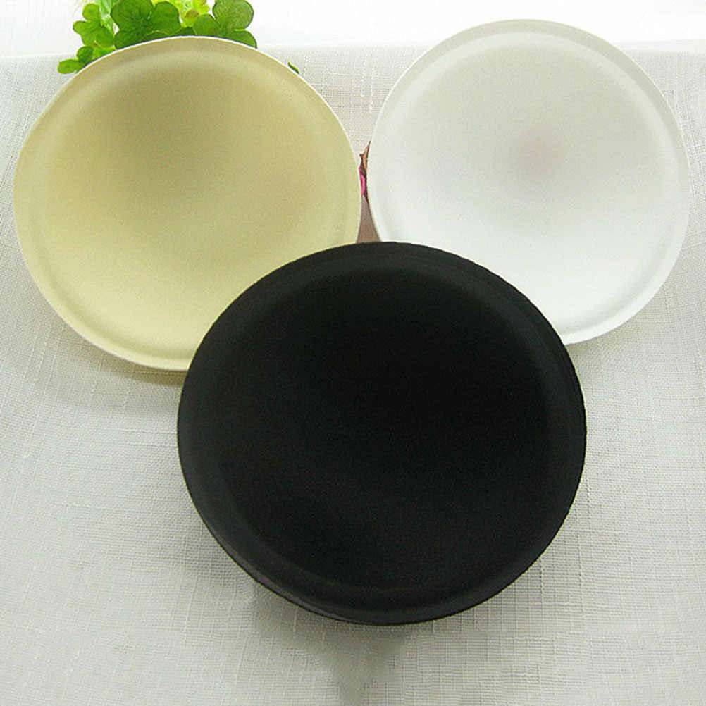 1Pair  Bikini Swimsuit Breast Enhancer Push Up  Foam Bra Insert Round Full Cup Pads