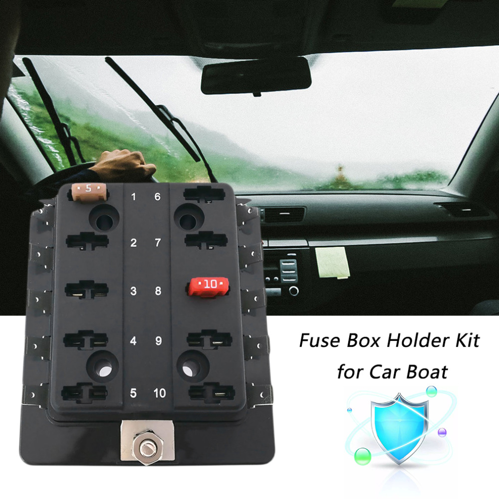 compare prices on mini fuse box online shopping buy low price cimiva 12v 24v 32v 10 way mini blade fuse box holder kit for car boat