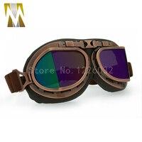 Classico Color Bronzo Occhiali Occhiali D'epoca Pilota Occhiali Per MOTOCICLISTA CRUISER CASCO