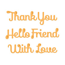 Eastshape Words Thank You/hello Friend/with Love Metal Cutting Dies Scrapbooking for Card Making DIY Embossing Cuts Craft New