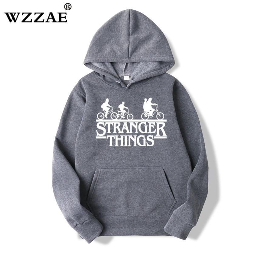 Trendy Faces Stranger Things Hooded Hoodies and Sweatshirts 4