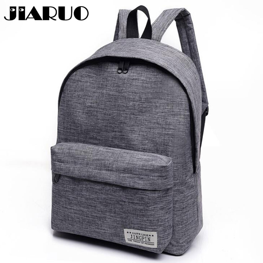 Classical Simple Canvas Women Backpacks School Bag For Teenagers Girls Student Book Laptop Back Pack Travel Mochila