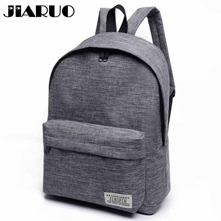 Classical Simple canvas Women Backpacks School bag for teenagers Girls  Student book Laptop Back pack travel ce24348bec