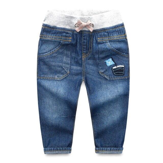 Новое Прибытие Осень зима Высокое качество толстые дети брюки стиль теплый детские мальчиков джинсы дети брюки Случайные Длинные Брюки