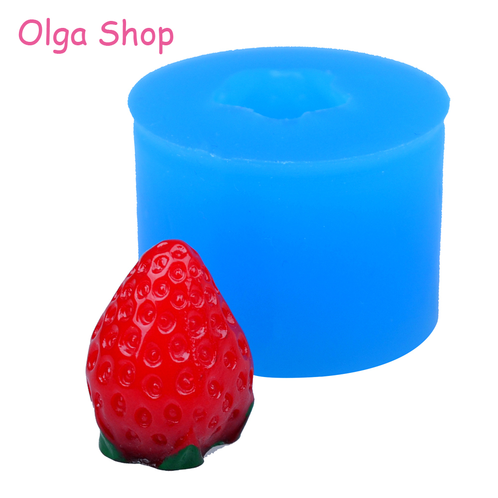 Silicone Strawberry Mould Mini Fruit Mold Fondant  Candy Chocolate Icing Bakewar