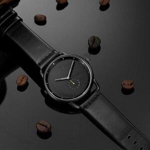 Image 1 - BAOGELA Merk Horloges voor Mannen Lederen Band Casual Business Kleine Seconden Quartz 30 m Waterdicht Mannen Kijken Relogio Masculino 2019