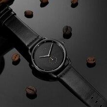 Relojes de marca BAOGELA para hombre, correa de cuero, reloj de cuarzo para negocios pequeños, resistente al agua 30 m, reloj Masculino 2019