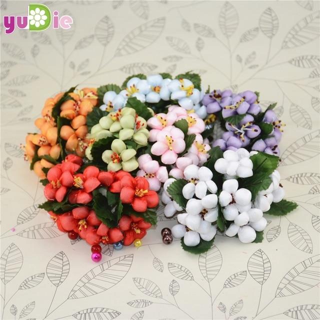 100pcs/lot Silk Cotton Artificial Flower Bouquet For Wedding ...