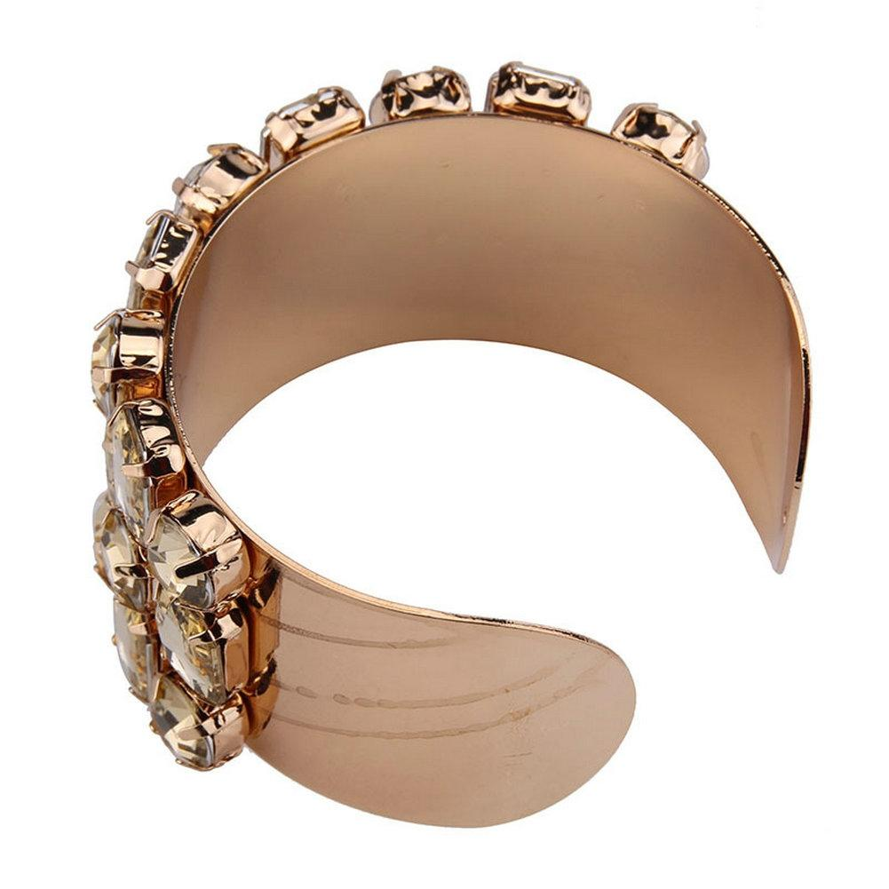 XIUFEN latest hot selling fanshion Europe and the United States large wide open luxury bracelet for women gift 2017 ZK30
