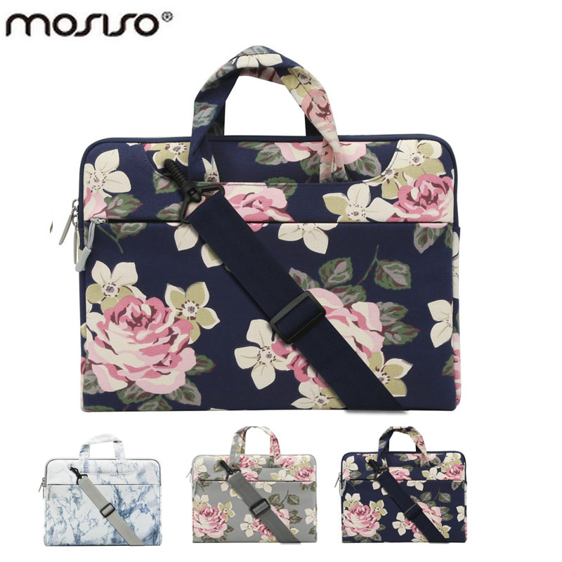 MOSISO 11 13.3 14 15.6 inch Bohemian Flower Designer Notebook Shoulder Bag for Macbook /Acer/Asus Laptop Computer Briefcase Bags