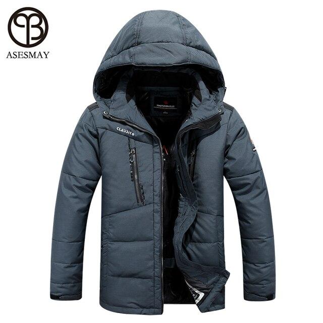 98b29bbf282 Asesmay hiver veste hommes 2016 marque vêtements parka hommes épais vers le  bas veste hommes manteau