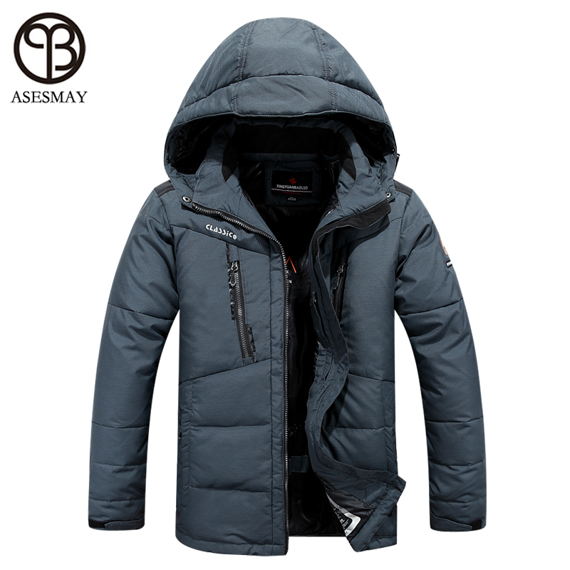 asesmay winter jacket men 2016 brand clothing parka men thick down jacket men coat winter jacket goose feather winter parka