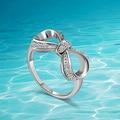 925 anéis da prata esterlina, japão e Coréia Do Sul populares mulher presente lovely fashion bonito anel arco