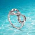 925 anillos de plata esterlina, japón y Corea Del Sur populares mujer regalo de la manera encantadora hermosa anillo de arco