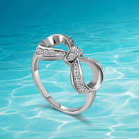 925 sterling silver rings, Japan and South Korea popular woman fashion gift lovely beautiful bow ring