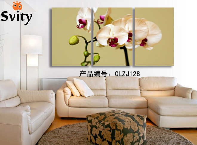 3 Pcs   Milky white Flowers Wall Art Picture Modern Home Decoration Living Room or Bedroom Canvas Print Painting Wall picture