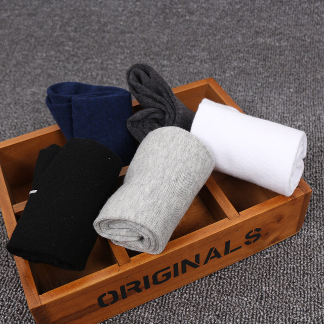 5 pairs=10 pieces Zerlos plus size 43-48 men's in tube socks cotton solid color men business socks male 2018 New Spring Summer Socks