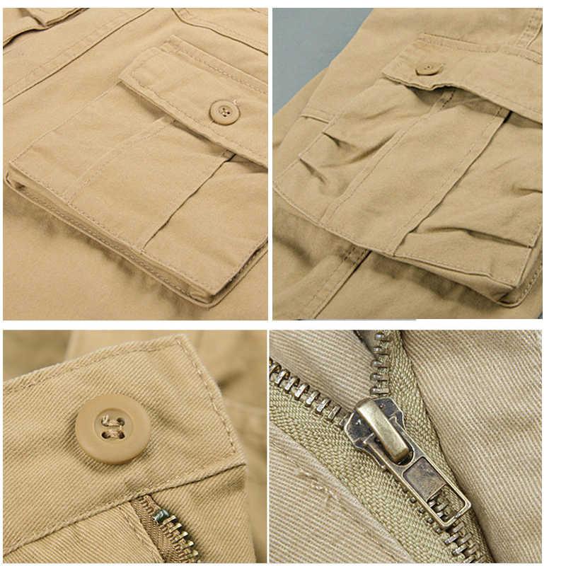 Holyrising Summer Cargo Shorts Men Casual Workout Military Army Men's Shorts Multi-pocket Calf-length Short Pants 29-44 18870-5