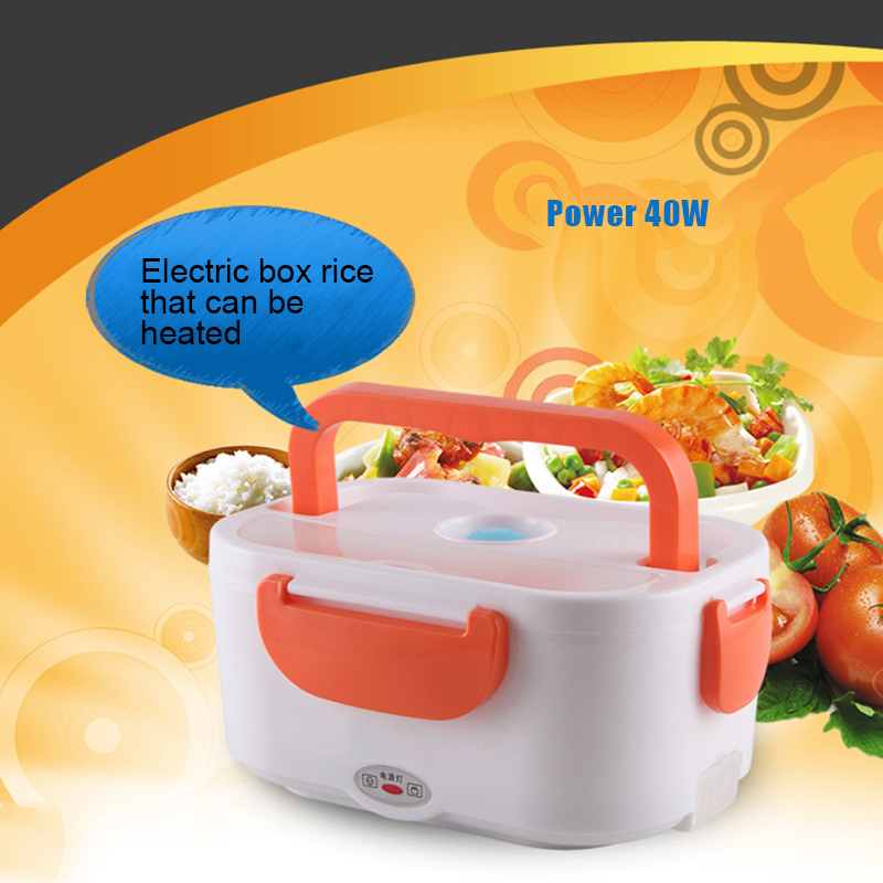 220V Portable Electric Heating Lunch Box Food Grade Food Container Food Warmer For Kids 4 Buckles Dinnerware Sets H in Lunch Boxes from Home Garden