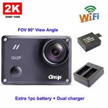 Gitup Git2P Стандартный упаковка 16MP F2.5 5G2P 90 градусов объектив Новатэк 96660 2160 P Wi-Fi 2 К действие Камера + Дополнительные Батарея + двойной Зарядное устройство