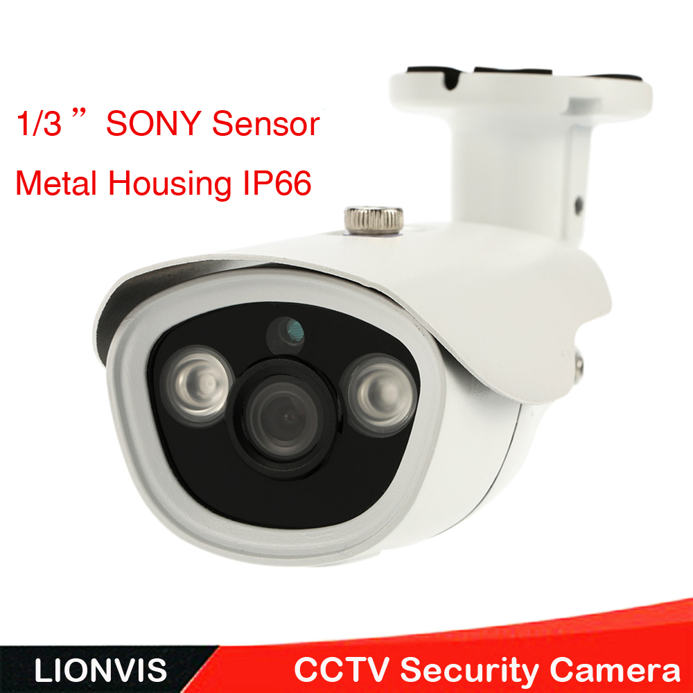 1200TVL 1/3''SONY CMOS CCTV Security Camera Array LED Color IR Night Vision Outdoor Waterproof Surveillance Camera 1 3 sony cmos 1200tvl cctv security camera metal ip66 24 led color ir night vision surveillance home outdoor video camera