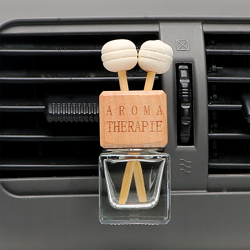 Image 2 - FORAUTO Air Freshener Ornament Perfume Bottle Pendant Essential Oils Auto Car Perfume Bottle Hanging Glass Bottle Car styling-in Air Freshener from Automobiles & Motorcycles