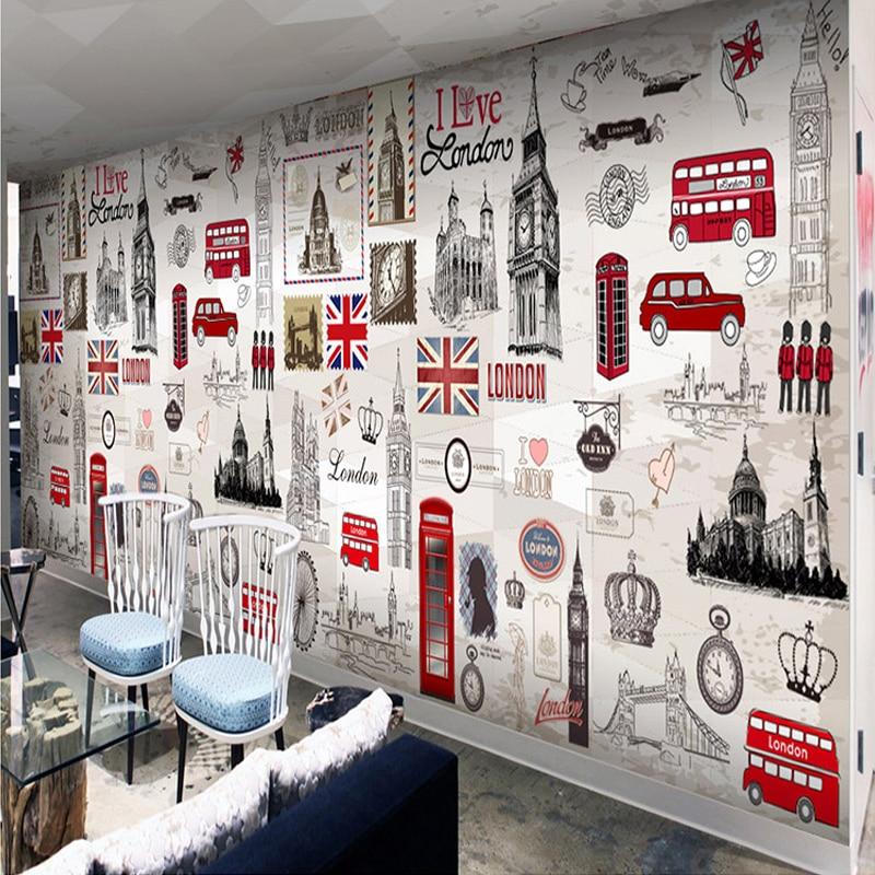 Online get cheap 3d london alibaba group - Poster mural 3d ...