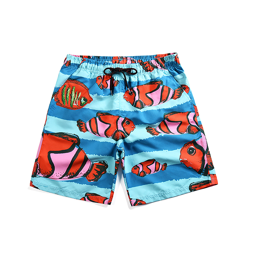 Fish Swim Trunks For Men New Fashion Summer Beach Surfing Board Shorts (4)
