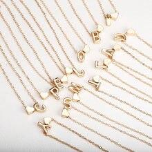 Маленькое сердце ожерелье с надписью длинная цепочка именем