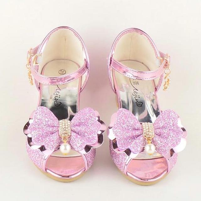 proveedor oficial precios de remate online € 12.6 30% de DESCUENTO|Haochenjiade nuevas sandalias de princesa de 2018  niñas tacones de nieve reina hielo colores zapatillas de cristal zapatos de  ...