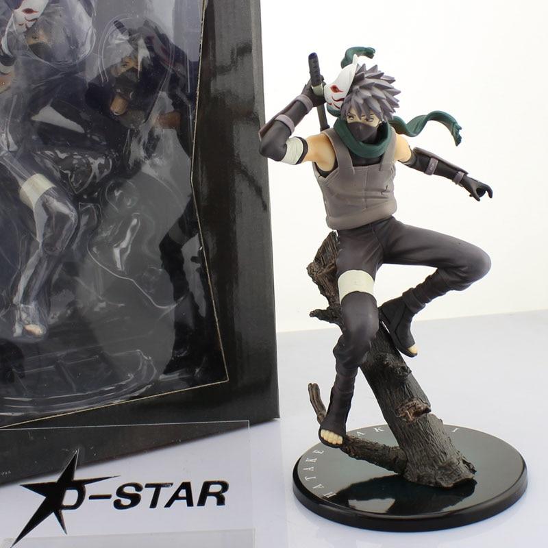 Free Shipping 10 Naruto Anime Ninja Copiador Hatake Kakashi Shinobi of Darkness Boxed PVC Action Figure