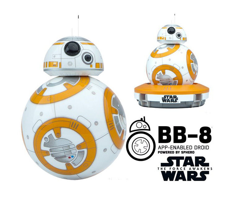 Sphero BB-8 Star Wars Bluetooth Remote Control Robot Intelligent Small Ball Intelligence Toys For Kids Gift Free Shipping