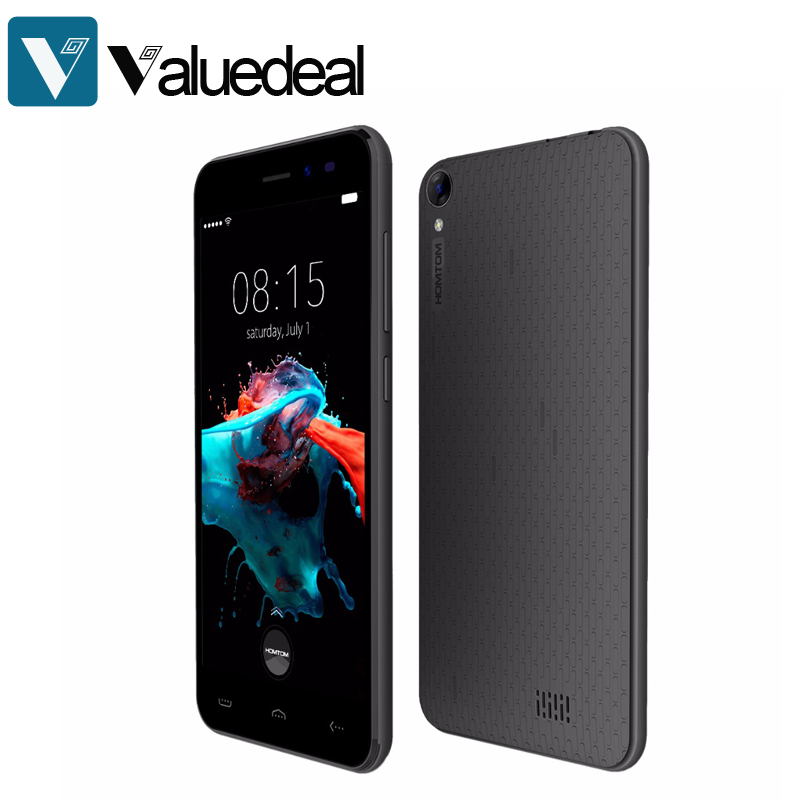 Оригинальный HOMTOM HT16 5.0 дюймов сотовый телефон Android 6.0 MT6580 4 ядра 1 ГБ Оперативная память 8 ГБ Встроенная память 3 г смартфон 8MP Камера мобильного телефона