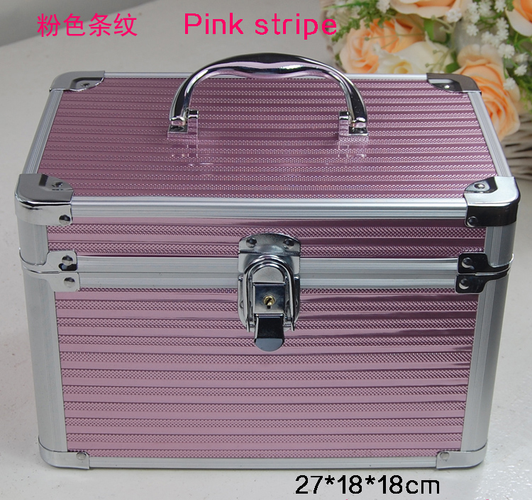 New Arrival Large Capacity Make Up Organizer Professional Cosmetic Organizer Jewelry Box Women Travel Makeup Storage Box in Cosmetic Bags Cases from Luggage Bags
