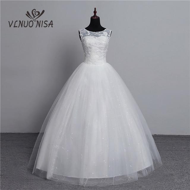 100% תמונה אמיתית תחרה עד כדור שמלת 2018 אופנה קוריאני שמלות חתונה מותאם אישית קלאסי בתוספת גודל שמלת כלה עם 3D פרחים