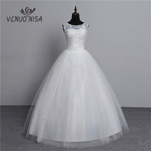 100% Real Photo Korean Lace Up Ball Gown 2020 Fashion Classic Wedding Dresses Customized Plus Size Bridal Dress with 3D Flowers