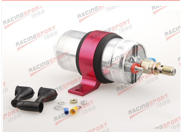ФОТО External Fuel Pump 044  With Billet Aluminium Bracket/Clamp/Cradle red