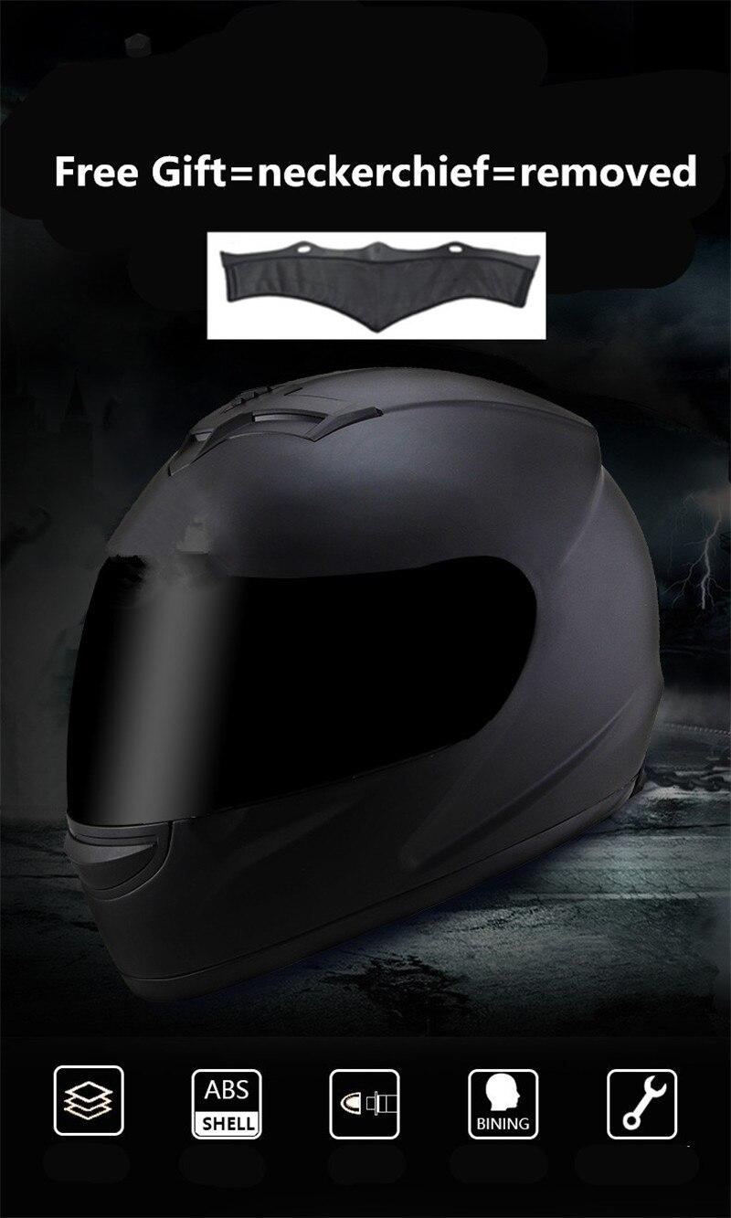 Motorcycle Helmet Men Chopper Scooter Cruiser Full Face Helmet Touring Motorbike Helmet Men Women Racing Street Moto Casco