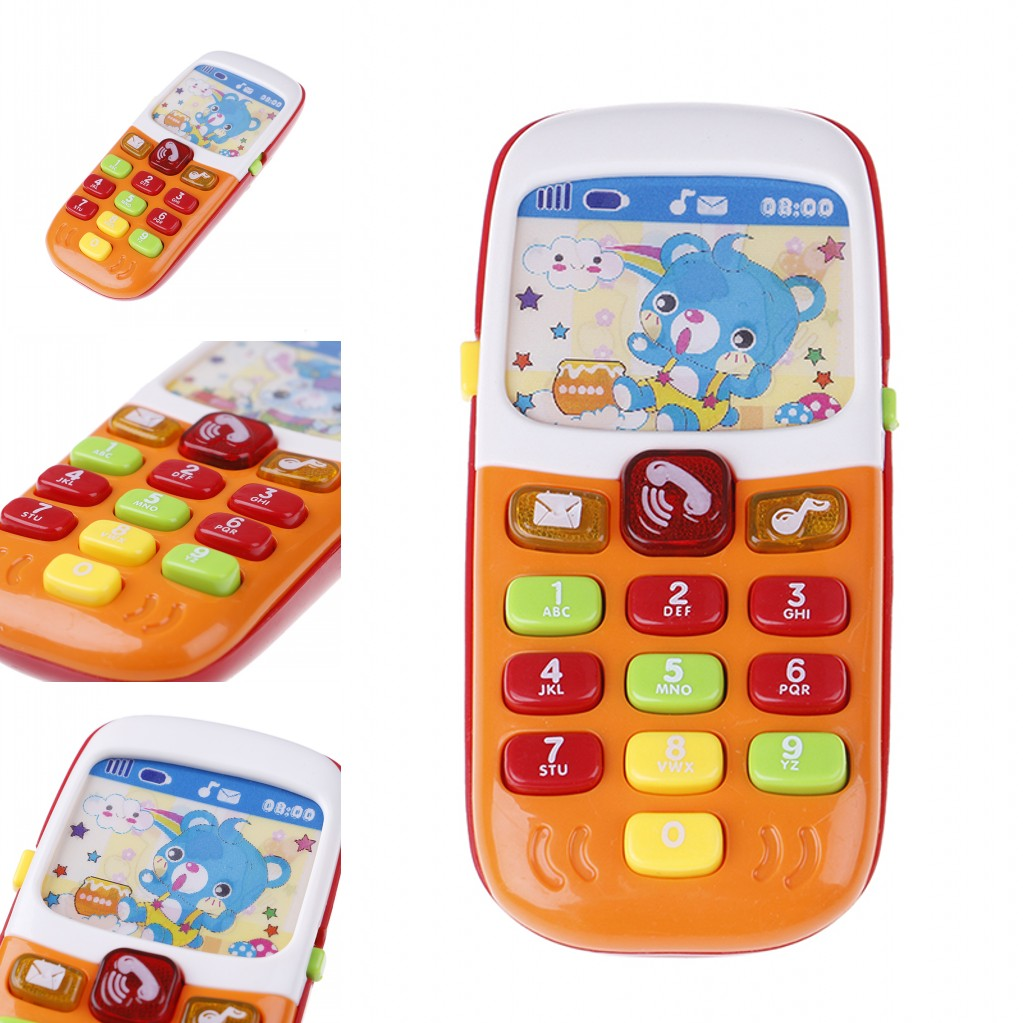 2019 Hot Electronic Musical Toy Phone Mini Kids Mobile Phone Cellphone Telephone Educational Toys Musical Instrument For Baby