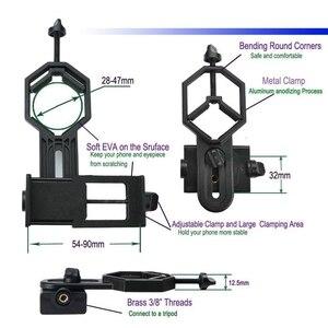 Image 2 - Uniwersalny mikroskop teleskopowy obiektyw aparatu telefon komórkowy fotografia stojak Adapter dla iPhone Samsung xiaomi dołącz uchwyt telefonu