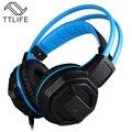 Esport ttlife venta caliente auriculares de sonido envolvente en la oreja pro led que emite bass auriculares para juegos de ordenador auriculares con micrófono