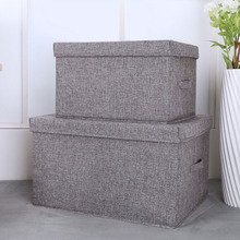 Buy hot 2pcs/set Cotton And Linen Storage Box Foldable Large Waterproof Laundry Bucket Home Bathroom YU-Home directly from merchant!
