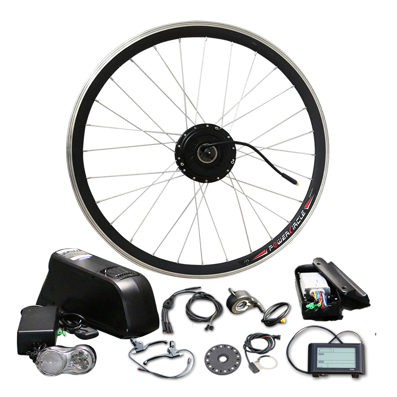 цена на Powerful 48V 10/12/16Ah with Battery 500W 350W LCD900 Electric Motor LG SAMSUNG Bottle Cell Bike Conversion Kit MTB Road Bicycle