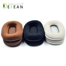 Defean almohadillas de terciopelo para auriculares, 3 almohadillas de terciopelo de color ovalado, para ATH M40 Audio Technica ATH M50 M50X M30 M40 M35 SX1 M50 M50S