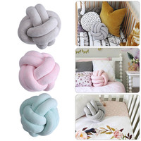 High Quality Innovative Handmade Knotted Knot Ball Home Baby Sweet Pillow Sofa Cushion Simple Car Decorative