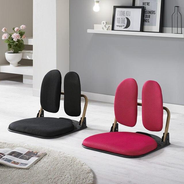 Floor Comfortable Folding Chairs Tatami Reclining Zaisu Seat Sitting Backrest Ergonomic Chair Legless Meditation